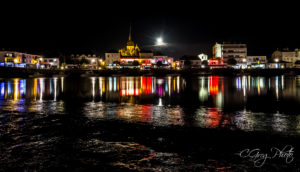Photo de nuit port de Saint Gilles Croix de Vie
