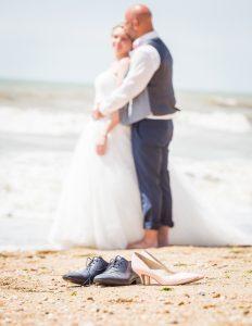 Photo après mariage sur la plage Photographe de mariage