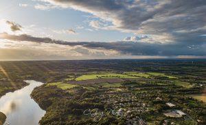 photo aerienne lac du jaunay l aiguillon sur vie