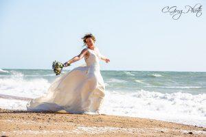 photo de la mariée gregory cathou photographe le fenouiller
