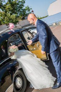 photo voiture de mariage photographe de mariage en vendée