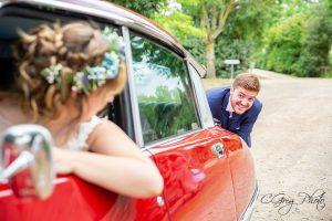 séance photo voiture de mariage